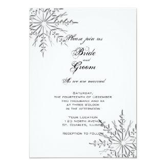 Snowflakes Winter Wedding 13 Cm X 18 Cm Invitation Card