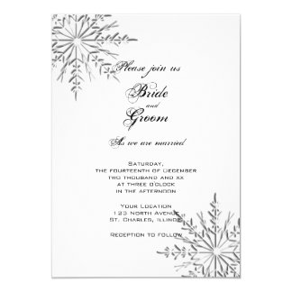 Snowflakes Winter Wedding Invitation