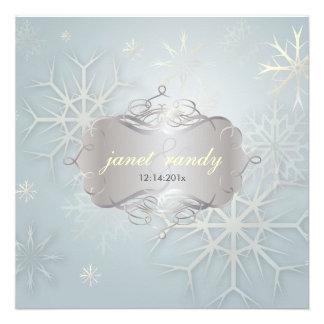 Snowflakes Winter Wedding Invitations