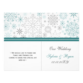 Snowflakes Winter Wedding Stationery 21.5 Cm X 28 Cm Flyer