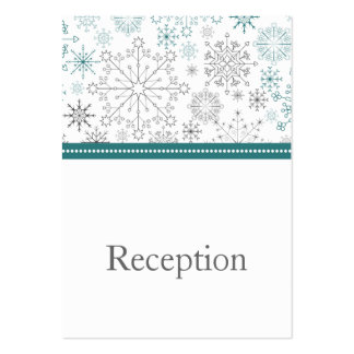 Snowflakes Winter Wedding Stationery Pack Of Chubby Business Cards