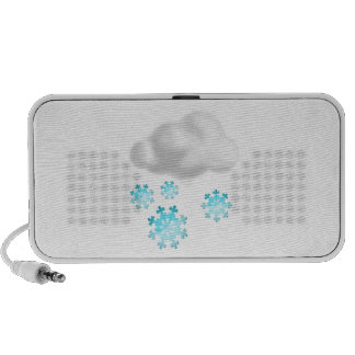 Snowflakes with Cloud Mp3 Speaker