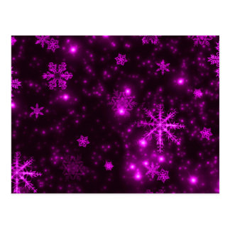 Snowflakes with Purple Background Postcard
