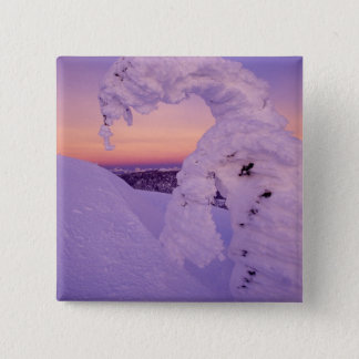 Snowghost in the Whitefish Range at Twilight 15 Cm Square Badge