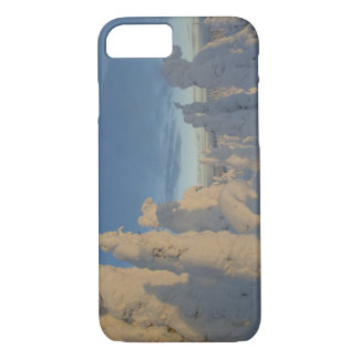 Snowghosts at sunset at Whitefish Mountain 2 iPhone 7 Case