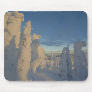 Snowghosts at sunset at Whitefish Mountain 2 Mouse Pad