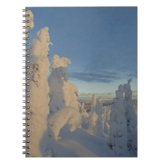 Snowghosts at sunset at Whitefish Mountain 2 Notebook