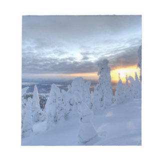 Snowghosts at sunset at Whitefish Mountain Notepad