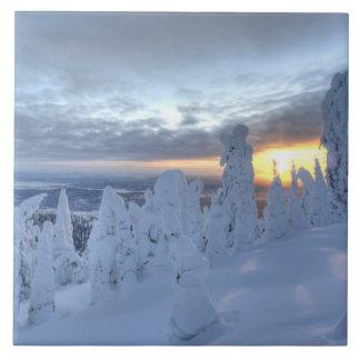 Snowghosts at sunset at Whitefish Mountain Tile