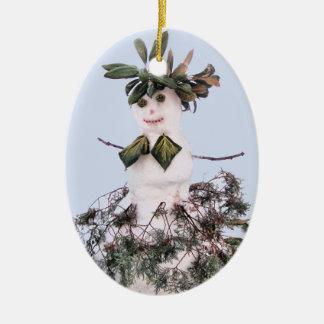 Snowgirl Christmas Ornament