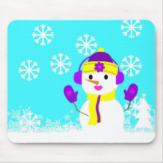 Snowgirl Mouse Pad
