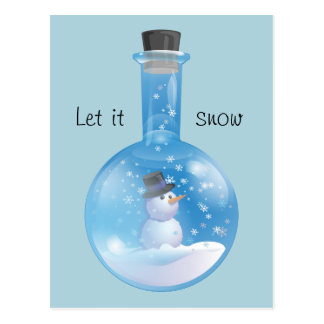 Snowglobe flask post cards