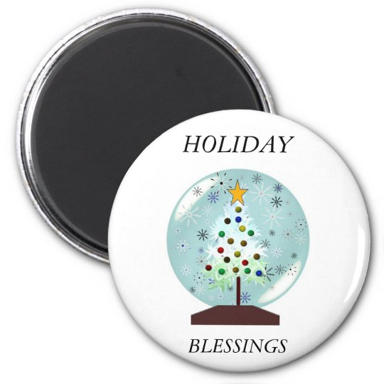 snowglobe holiday magnet