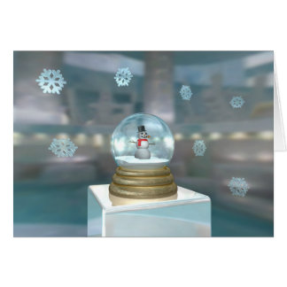 Snowglobe In The Ice Cave Card