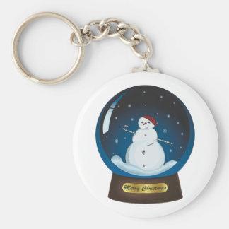 Snowglobe with cute snowman key ring