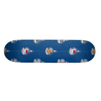 Snowglobes at Dusk Skateboard Deck