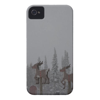 Snowing Blizzard Snow Snowflake Frozen Ice Santa iPhone 4 Cover
