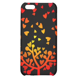 Snowing Hearts iPhone 5C Cases