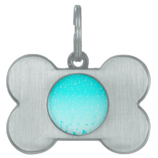 Snowing Music Pet ID Tag