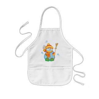 Snowkid Christmas Apron for Kids