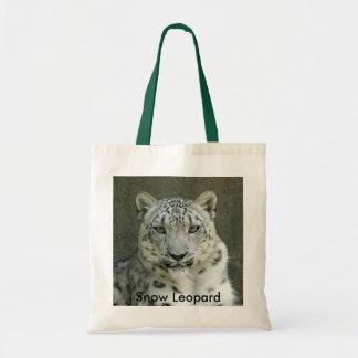 SnowLeopardM002 Snow Leopard Tote Bag
