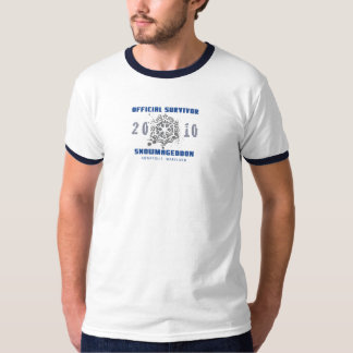 Snowmageddon Annapolis MD Blue Ringer T-Shirt