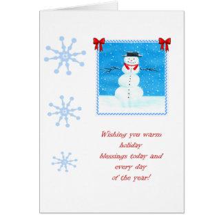 Snowman 11 Christmas Card
