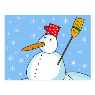 Snowman 2 postcard