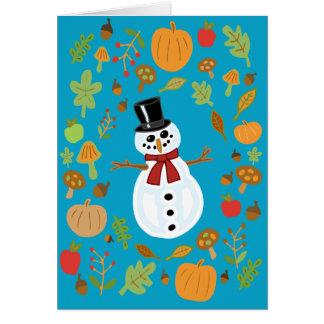 Snowman #4 card