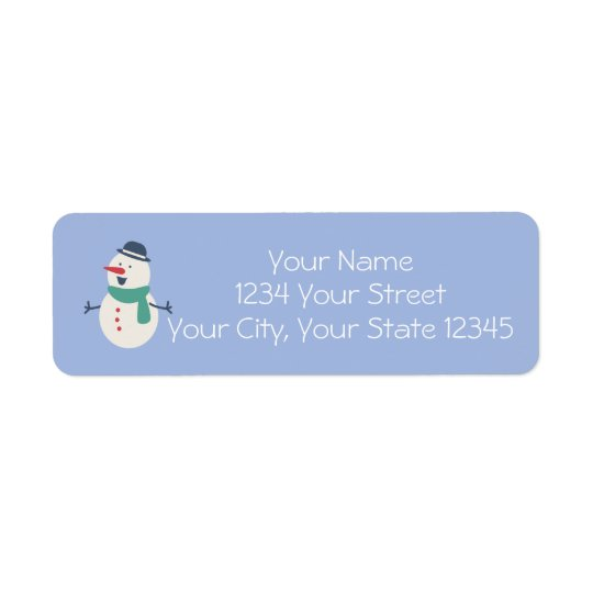 Snowman Address Label