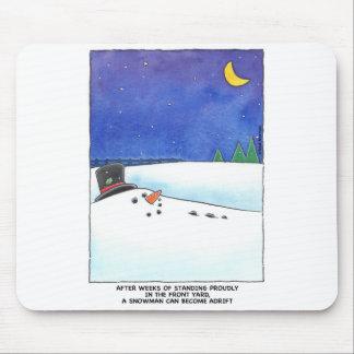 Snowman Adrift Mouspad Mouse Mat