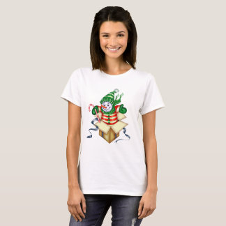 SNOWMAN ALONE CHRISTMAS Women's Basic T-Shirt