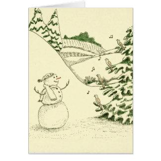 Snowman and Birds Card