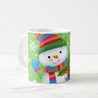 Snowman and Candy Cane Mug