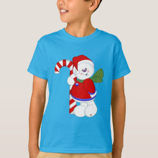 Snowman and Candycane T-Shirt