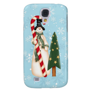 Snowman and Christmas Tree Samsung Galaxy S4 Case