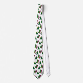Snowman and Christmas Tree Tie