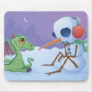 Snowman and Dragon Mousepad