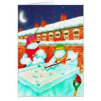 SNOWMAN AND FRIEND PLAY CARD