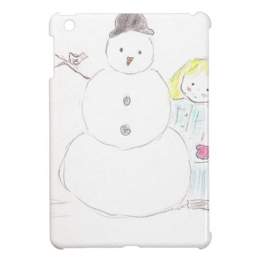 Snowman and Girl iPad Mini Cases