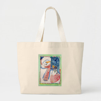 Snowman and Penguin Tote Bags