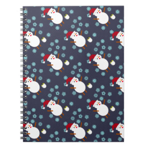Snowman and Penguin Notebook