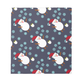 Snowman and Penguin Notepad