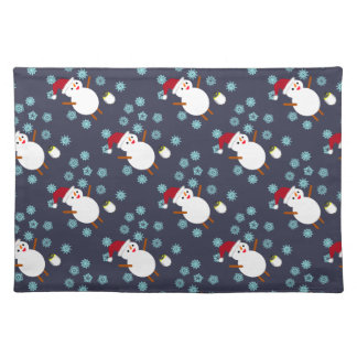 Snowman and Penguin Placemat