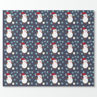 Snowman and Penguin Wrapping Paper