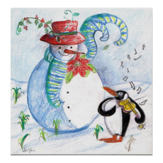 SNOWMAN AND PENGUIN'S WINTER SERENADE POSTER