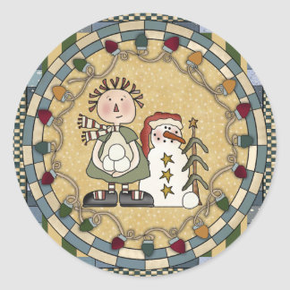 Snowman and Raggedy Doll Stickers - Customized