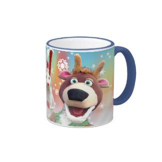 snowman and reindeer mug