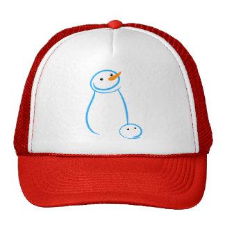 Snowman and Steve Sketch Trucker Hats