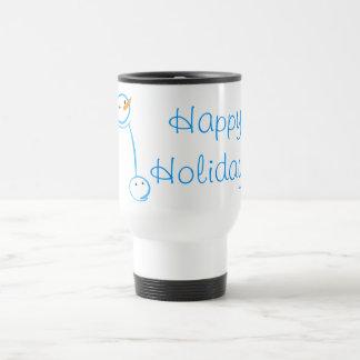Snowman and Steve Sketch Stainless Steel Travel Mug